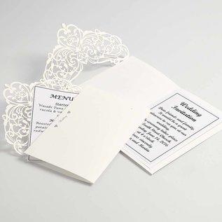 KARTEN und Zubehör / Cards Karte & Umschlag, Kartengröße 12x17,7 cm, creme, 5 Stück, 230 g