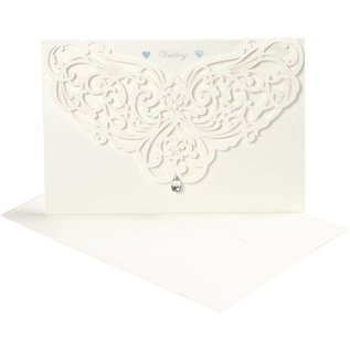 KARTEN und Zubehör / Cards Carte et enveloppes, format carte 12x17,7 cm, crème, 5 pièces, 230 g