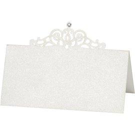 KARTEN und Zubehör / Cards cartões do lugar, tamanho 10,7x5,4 cm, creme, 10 peças
