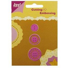 Joy!Crafts / Jeanine´s Art, Hobby Solutions Dies /  Stansning og prægning skabelon: knapper