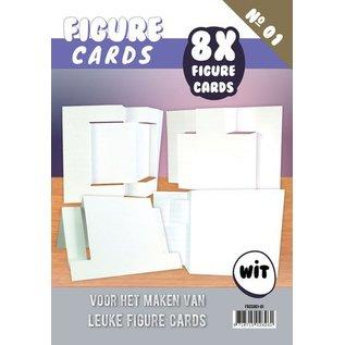 KARTEN und Zubehör / Cards Figuur 1 Cards - Craft, wit