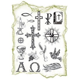 VIVA DEKOR (MY PAPERWORLD) Transparent timbres Sujet: occasions religieuses