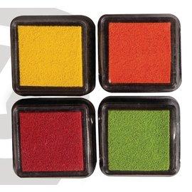 FARBE / STEMPELINK tampone di inchiostro Mini Mascara, set di 4