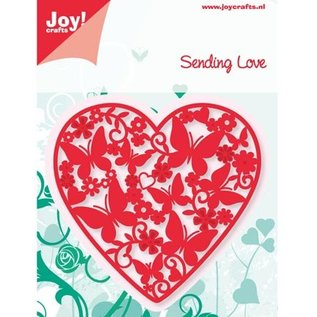 Joy!Crafts / Hobby Solutions Dies Ponsen en embossing sjablonen: Hart met vlinders