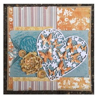Joy!Crafts / Jeanine´s Art, Hobby Solutions Dies /  Stansning og prægning skabeloner: Hjerte med sommerfugle