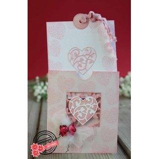 Joy!Crafts / Hobby Solutions Dies Stansning og prægning stencil: firkant med hjerte