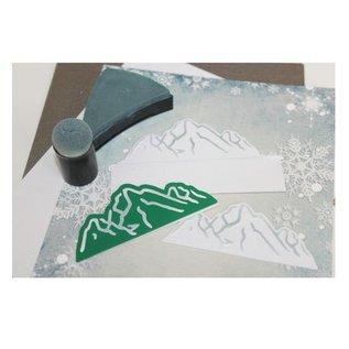 Joy!Crafts / Hobby Solutions Dies Stansning og prægning skabelon: ski / bjerglandskab