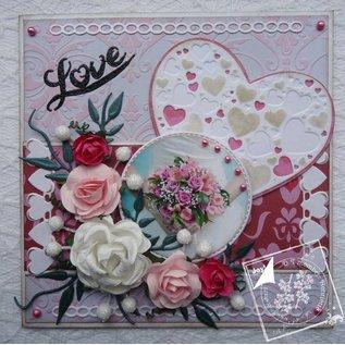 Joy!Crafts / Jeanine´s Art, Hobby Solutions Dies /  Poinçonnage et gaufrage modèles: Coeur avec petits coeurs