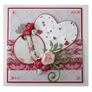 Joy!Crafts / Jeanine´s Art, Hobby Solutions Dies /  Stansning og prægning skabeloner: Hjerte med små hjerter