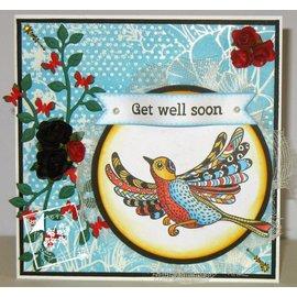 Stempel / Stamp: Transparent timbro trasparente: uccelli Zentangle