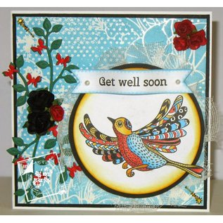 Stempel / Stamp: Transparent Transparent stempel: Zentangle fugle