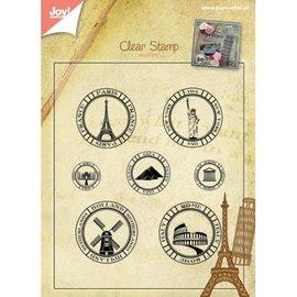 Stempel / Stamp: Transparent Stamp transparente: países de férias