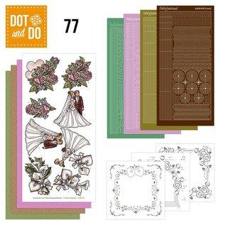 Komplettes Bastelset für 3 Karten: Hochzeit