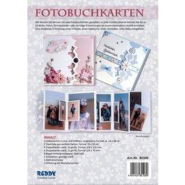 REDDY rillet komplet sæt til foto bog kort rosa og lyseblå + 8 dual kort