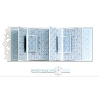 REDDY Complete set for photo book cards rose and light blue + 8 double cards grooved