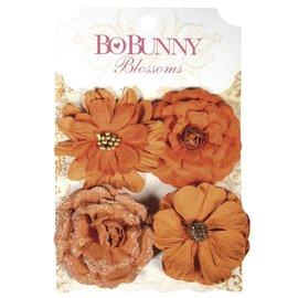 Embellishments / Verzierungen Bobunny, fleurs en papier zinnias