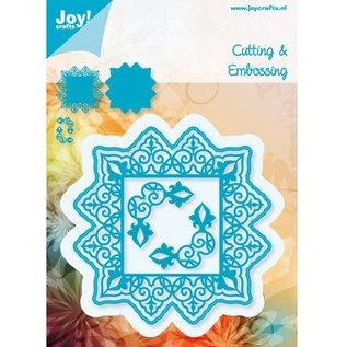 Joy!Crafts / Hobby Solutions Dies Stansning og prægeskabeloner, firkantet hjørne + 2