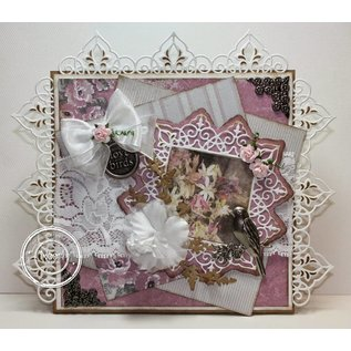 Joy!Crafts / Jeanine´s Art, Hobby Solutions Dies /  Stansning og prægeskabeloner, firkantet hjørne + 2