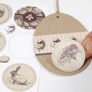 Designer Papier Scrapbooking: 30,5 x 30,5 cm Papier En Designer Bow, 30,5 x 30.5cm, med vakre påske motiver