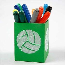 Kinder Bastelsets / Kids Craft Kits Stempel af skumgummi: Sport, i alt 12 designs