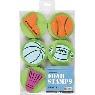 Kinder Bastelsets / Kids Craft Kits Stamp of foam rubber: Sport, a total of 12 designs