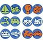 Kinder Bastelsets / Kids Craft Kits Timbre en caoutchouc mousse: Transport, un total de 12 modèles