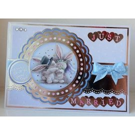 Crafter's Companion A6 Unmounted rubber stamps set, wedding