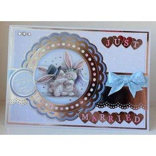 Crafter's Companion A6 tampons en caoutchouc nus ensemble, mariage