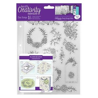 Stempel / Stamp: Transparent Transparante stempel, mooie bloemmotieven, rollen en frames