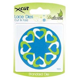 Docrafts / X-Cut Skæring og prægning stencils, Lace Dette, Klip & Fold