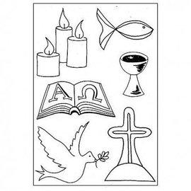 Stempel / Stamp: Transparent Selos transparentes: Símbolos cristãos