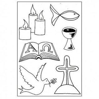 Stempel / Stamp: Transparent Transparent stempel: Kristne Symboler