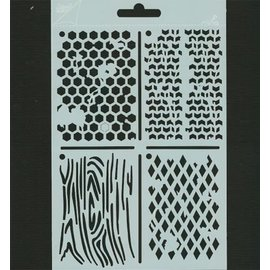Pronty ATC stencil Polybesa, Stencil