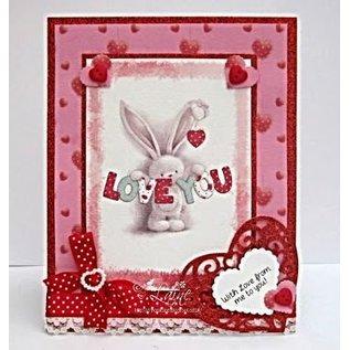 Crafters Company: BeBunni Rubber stamp, sujet BeBunni: Je t'aime