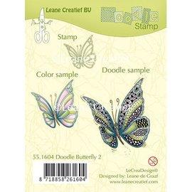 Leane Creatief - Lea'bilities timbro trasparente: farfalla Zentangle