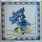 Spellbinders und Rayher Stempling og prægning stencil, 5 Spitzedeckchen, Square