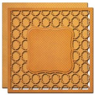 Spellbinders und Rayher Stampen en Embossing stencil, 2 Spitzedeckchen met frame patronen