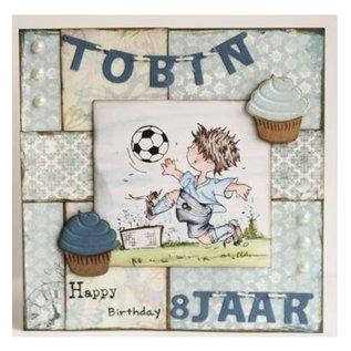 Marianne Design Stempling og prægning stencil, mini kage & cupcake