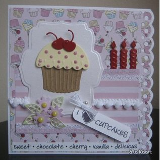 Marianne Design Stamping and Embossing stencil, Cupcake