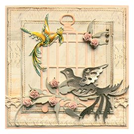 Marianne Design Stamping and Embossing stencil, bird