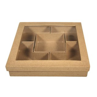Objekten zum Dekorieren / objects for decorating 1 sortering Quadradisch, til maling og dekoration