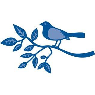 Marianne Design Stanz- und Prägeschablone, Vogel auf einem Zweig