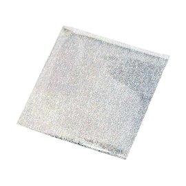 BASTELZUBEHÖR, WERKZEUG UND AUFBEWAHRUNG Overdracht film, vel 10x10 cm, 30 vellen, glitter zilver