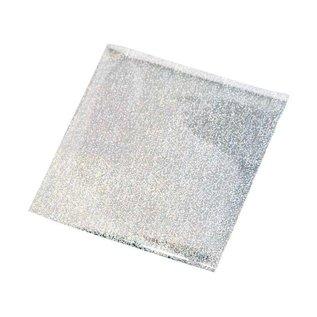 BASTELZUBEHÖR, WERKZEUG UND AUFBEWAHRUNG Overførsel af film, folie 10x10 cm, 30 ark, glitter sølv