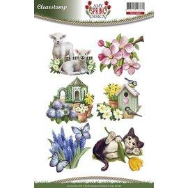 Stempel / Stamp: Transparent Selos transparentes, chega a primavera