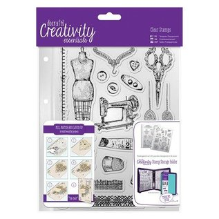 Docrafts / Papermania / Urban Transparent stamps Haberdashery