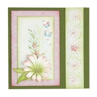 Leane Creatief - Lea'bilities Stempling og prægning stencil, multi-blomsten 9 Chrysant