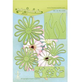Leane Creatief - Lea'bilities Stamping and Embossing stencil, the multi-flower 9 Chrysant