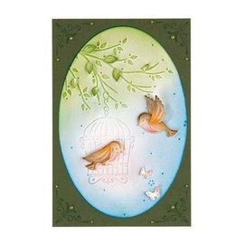 Leane Creatief - Lea'bilities Stampaggio e goffratura stencil, uccello