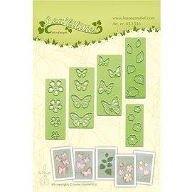 Leane Creatief - Lea'bilities Stempelen en embossing stencil, bloemen en vlinders